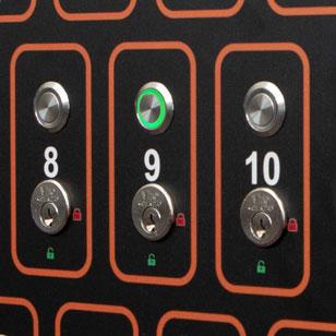 Distributore Armadio automatizzato multifunzione KD pulsante luminoso