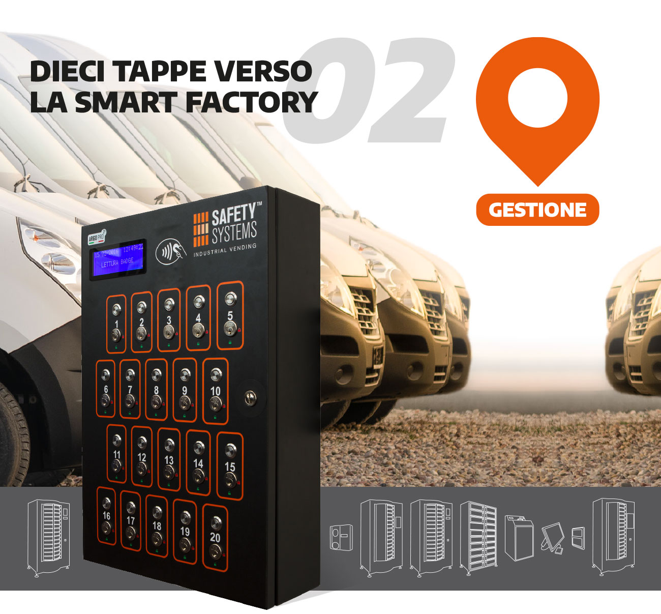safety system Distributore Armadio automatizzato Dispostitivi DPI Distributori Automatici DPI